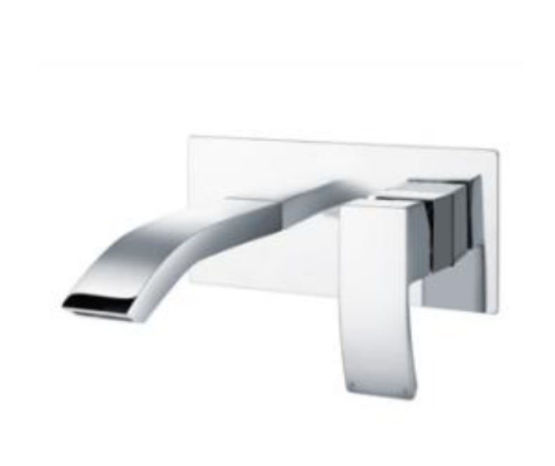 Descent Wall Mounted Basin Mixer Chrome