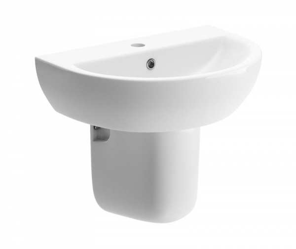 Tuscany 450mm Cloakroom Basin and Semi Pedestal