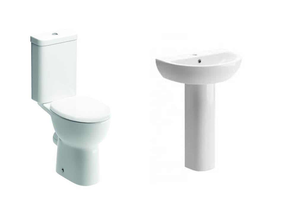Tuscany Suite, Close Coupled Toilet, Basin and Full Pedestal