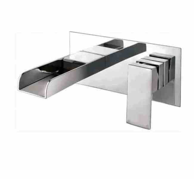 Victoria Wall Mounted Basin Mixer Chrome