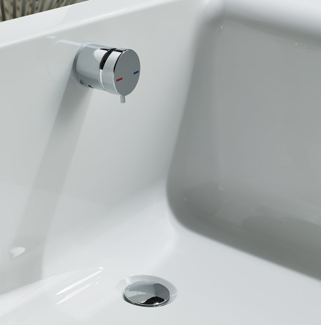 Overflow Bath Filler Valve with Combined Waste