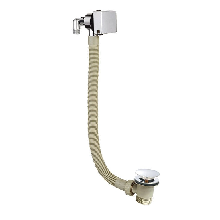 Square Overflow Bath Filler with Combined Waste