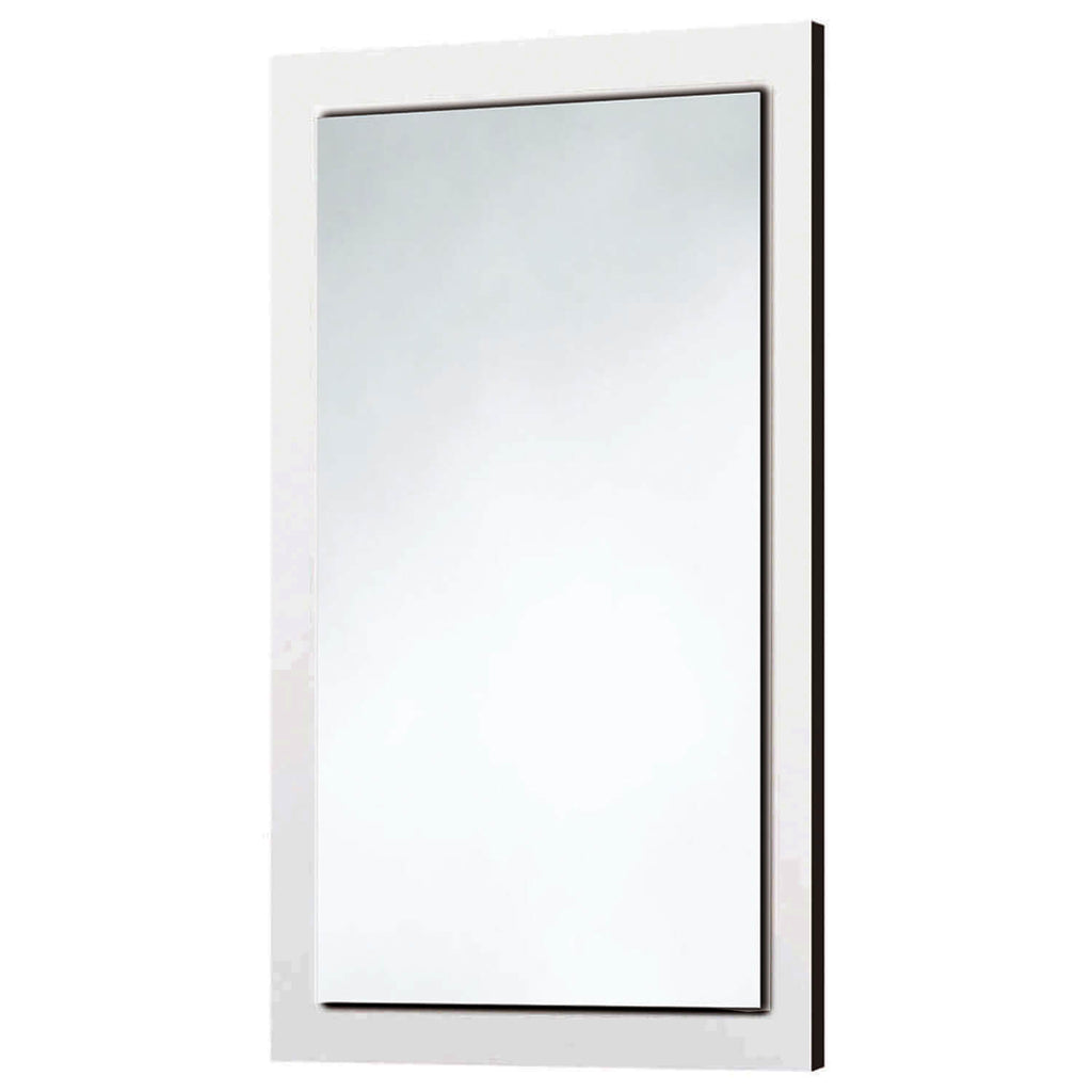 Gloss White Wooden Frame Mirror 600 x 900mm