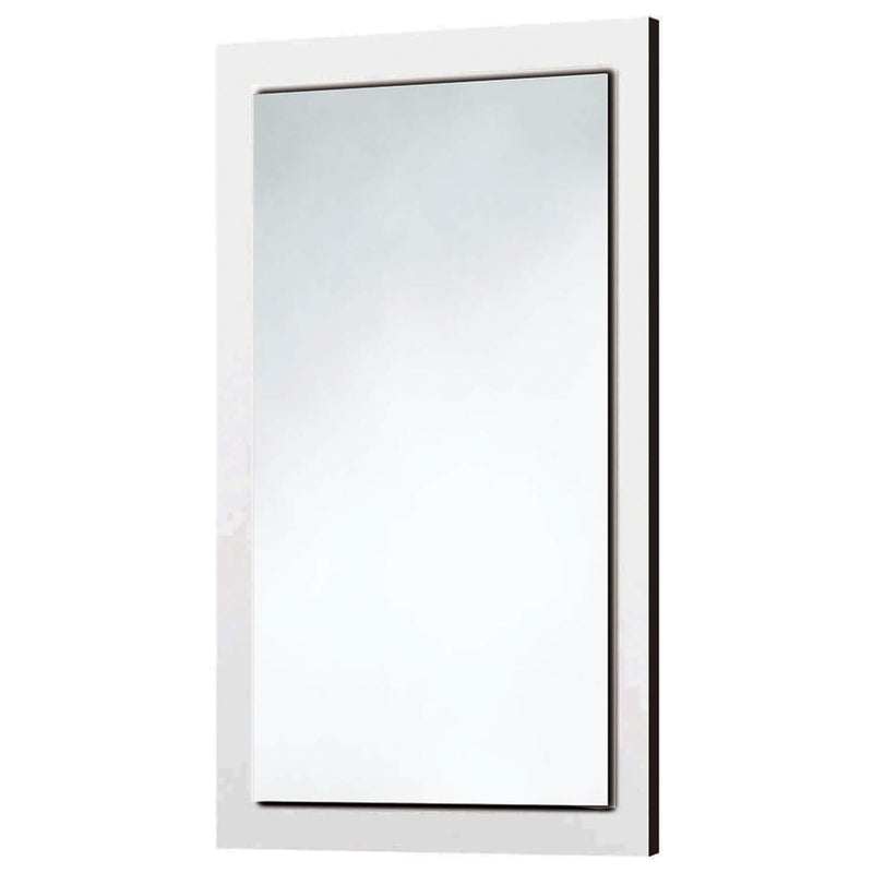 Gloss White Wooden Frame Mirror 500 x 800mm