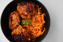 Load image into Gallery viewer, MOROCCAN CHICKEN MEATBALLS & SIDE