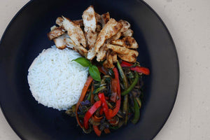 CHICKEN STIR-FRY & RICE