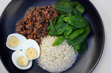 Load image into Gallery viewer, BEEF MINCE, EGGS, SPINACH & RICE
