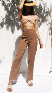 NUDE PLEATED PANTS - MADE IN FRANCE