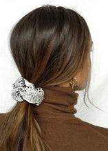 Vegan Snake Print Leather Scrunchie by Suzy Dang