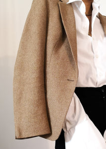 Wool blend tailored blazer