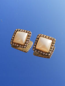 Vintage Large Square Earrings