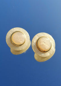 Vintage Pearly Rond Earrings