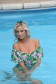 Ruffle Off-the-Shoulder One Piece