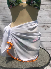Sarong Cover Up with Trim