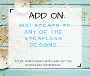 Add Straps to any Bikini Top for Extra Support, Add On Strap to Bikinis, Dress up your Swimwear, Make it Sexy with More Supports