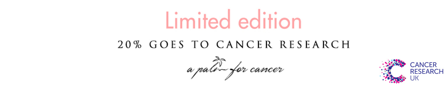 We donate 20% of all sales to cancer research.