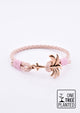 Rosette - Season two Palm anchor bracelet with pink leather.