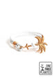 Paradise Rose - Palm anchor bracelet with white leather.