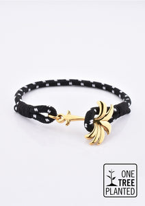 Trophy - Single - Season two Palm anchor bracelet with black and white nylon band.