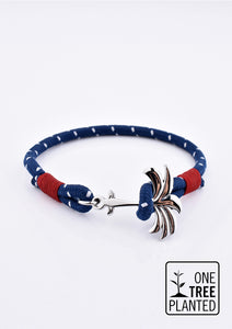 Voyager - Single - Season two Palm anchor bracelet with blue and red nylon band.