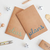 Set of Two Plans & Ideas Embroidered Notebooks - Make & Mend