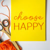 Choose Happy Hanging Banner Embroidery Kit