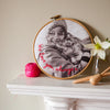 Personalised Message Photo Embroidery Hoop - Make & Mend