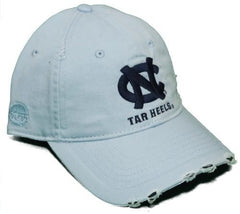 North Carolina Tar Heels Adjustable Buckle Back Hat - Pre-Distressed Cap