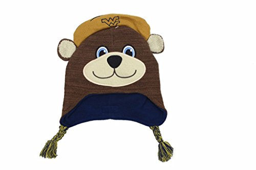 Mascot Wear NCAA College Unisex West Virginia Mountaineers Youth Knit Beanie Hat
