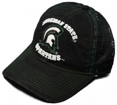 Michigan State Spartans Adjustable Snap Back Hat Embroidered Mesh Back Cap