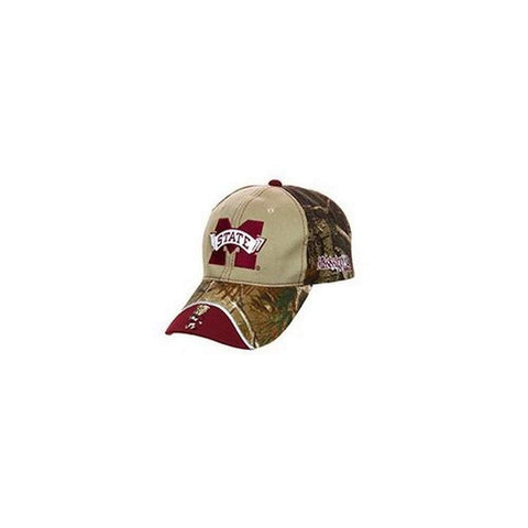 Licensed Mississippi State Bulldogs Realtree Camo Slouch Fit Baseball Hat Cap Lid