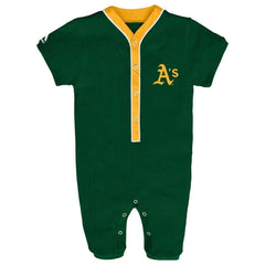Oakland A's Athletics Green Romper Coverall Infant Baby Clothing
