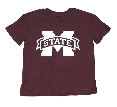 Outerstuff Mississippi State Bulldogs, Maroon Boy's Youth Short Sleeve T-Shirt