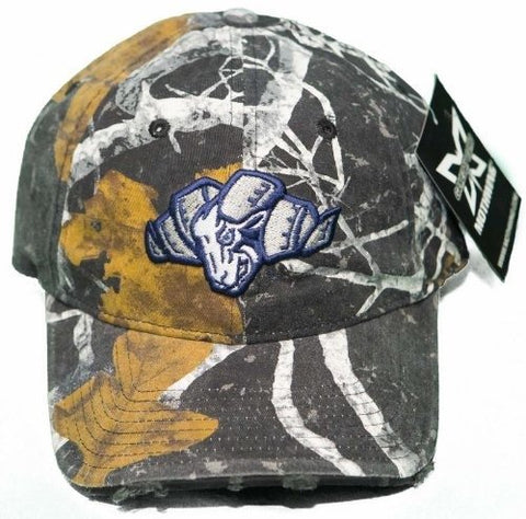 NCAA North Carolina Tar Heels Buckle Back Hat 3D Embroidered Mothwing Camo Cap