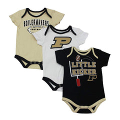 Outerstuff Purdue Boilermakers Little Kicker, Gen 2 3-Piece Baby Bodysuit Apparel Set