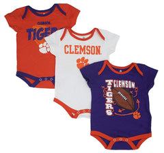 Outerstuff Clemson Tigers 3-Piece Creeper Baby Clothing Apparel Set