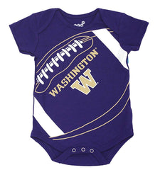 Outerstuff GEN2 Washington Huskies Purple Football Baby Clothing, 1 Piece Creeper Set