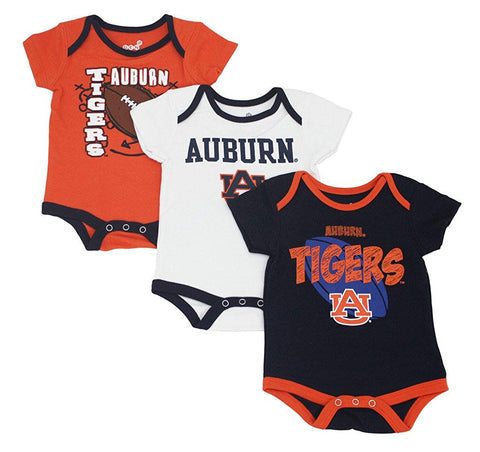 Outerstuff Auburn Tigers Gen 2, 3-Piece Creeper Baby Clothing Apparel Set
