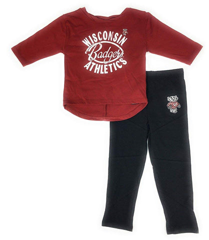 Outerstuff Wisconsin Badgers Football Sweetheart Girl's Shirt and Pant Set