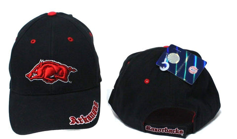 Arkansas Razorbacks Adjustable Velcro Embroidered One Fit Cap Hat