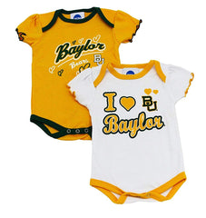 Outerstuff Baylor Bears Girl's 2-Piece Onesie Babysuit Clothing Apparel Set
