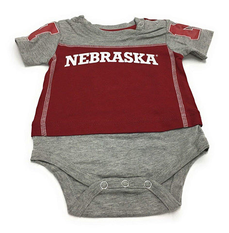 Outerstuff Nebraska Huskers, Booties and Bib 3-Piece Set Baby Clothing