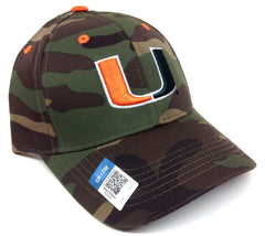 Miami Hurricanes Camouflage/Camo Hat Adjustable Velcro Adult Size Curved Bill Cap