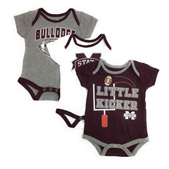 Outerstuff Mississippi Bulldogs Little Kicker 3-Pack Baby Bodysuit Clothing Set