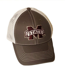 Mississippi State Bulldogs Gray Mesh Cap Snapback Hat NCAA
