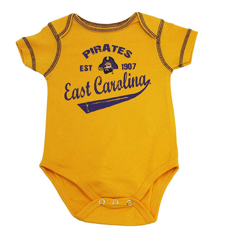 Outerstuff ECU East Carolina University Pirates 3-Piece Creeper Baby Clothing Apparel Set