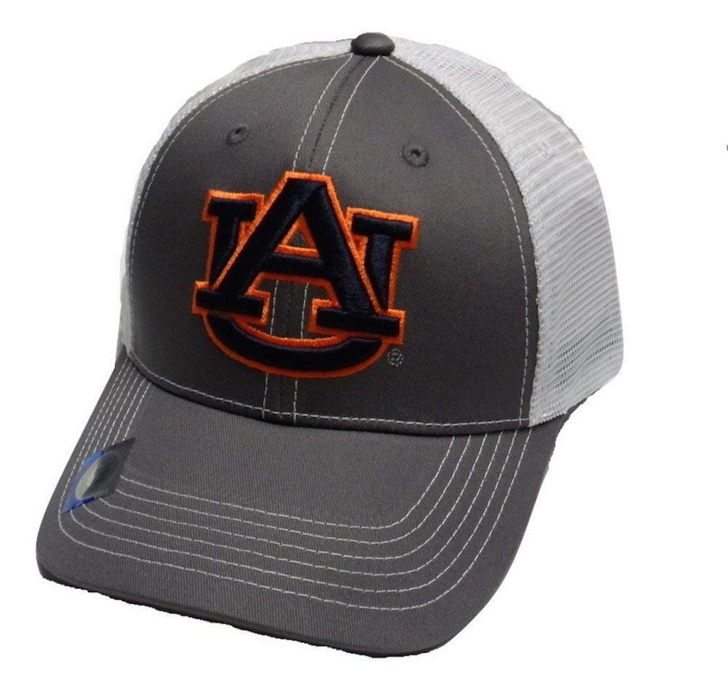 Auburn Tigers Adjustable Gray Cap Mesh Back Hat