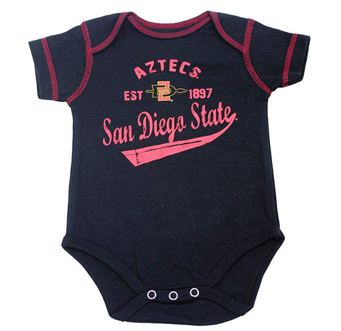 Outerstuff San Diego State Aztecs 3-Piece Creeper Baby Clothing Apparel Set