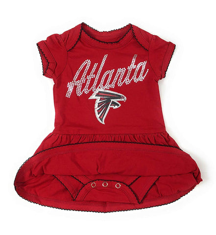 Outerstuff Atlanta Falcons Girls Baby Dazzled Bodysuit Dress Clothing Apparel
