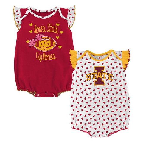 Outerstuff Iowa State Cyclones 2 Piece Onesie Baby Clothing Apparel Set